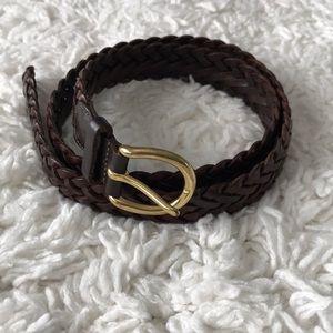 🕰 Coach Brown Braided Belt 🕰